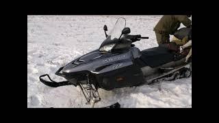 Смотреть онлайн Весенняя охота на волков на снегоходах в Казахстане