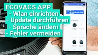 Ecovacs Deebot OZMO Saugroboter Wlan & App einrichten - So geht's und so vermeidet ihr Probleme!