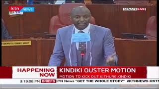Senators on a back and forth during Irungu Kangáta submission on the motion to kick out Prof. Kindik