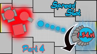 Diep.io - Stacking with Spread [4/4] (Spread Shot 1.54m - Maze)