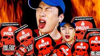 SUB)세상 제일매운과자 원칩챌린지먹방 KOREAN ONE CHIP CHALLENGE🔥 HOTTEST PAQUI CHIP CHALLENGE MUKBANG 도전먹방
