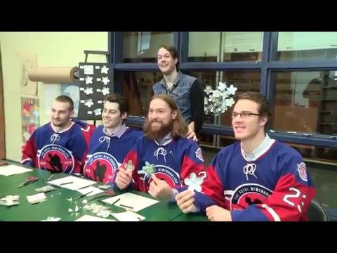 IceCaps Players Make Forget-Me-Nots at The Rooms