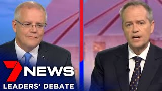 Leaders' Debate 2019 | Scott Morrison & Bill Shorten | 7NEWS