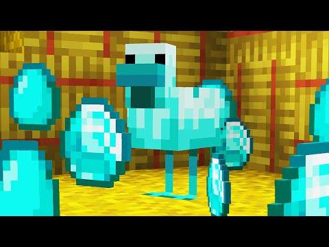 Minecraft but Chickens Lay Diamonds...