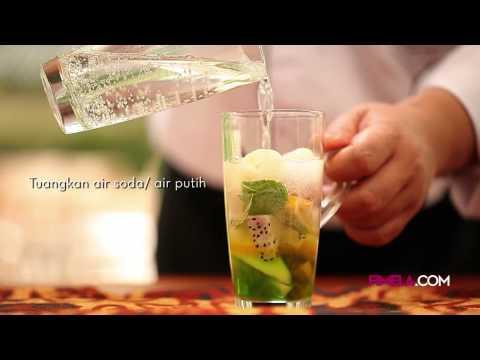 Video Es Aneka Buah dengan daun Mint