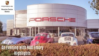 An evening with Rod Emory at Porsche Centre Bolton