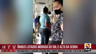 Passageiros flagram ônibus lotados em Patos de Minas