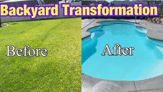 Swimming Pool Backyard Transformation | Fiberglass Swimming Pool Installation Process