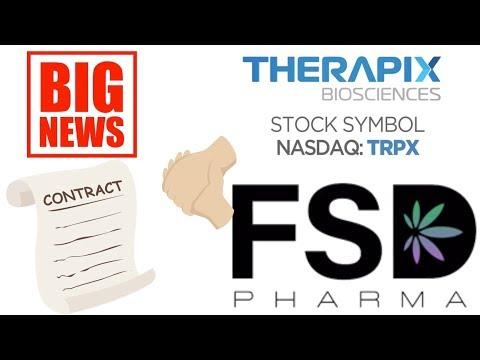 Stock market news FSD Pharma acquire Therapix Biosciences