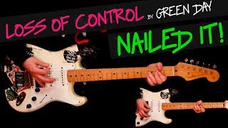 Loss Of Control - Green Day guitar cover by GV +chords