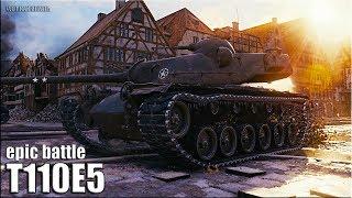 T110E5 БОДРОЕ РУБИЛОВО 🌟 медаль Пула 🌟 World of Tanks лучший бой тт 10