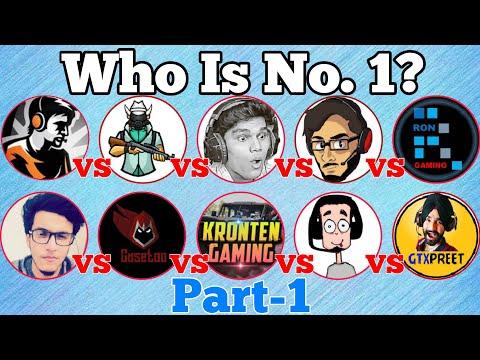 Top 10 Gamers in India 2019 | Carryminati, dynamo gaming, beastboy Shub, Kronten | Noob Tuber