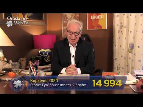 Καρκίνος 2020 Ετήσιες Προβλέψεις Κώστα Λεφάκη σε βίντεο