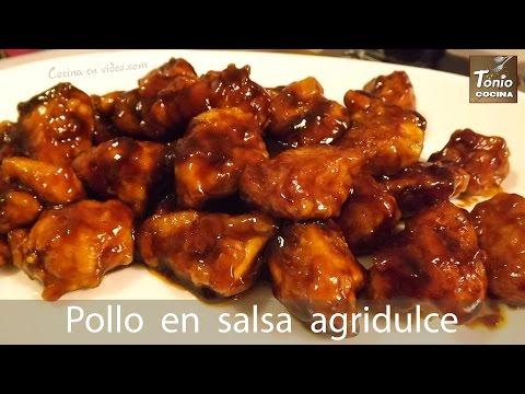 POLLO en SALSA AGRIDULCE, fácil y rico | Sin gluten