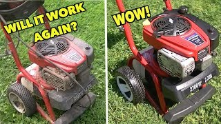 $549.00 Troy-bilt Yard Sale Power washer for $20! ... Broken and dirty to Pretty and working!