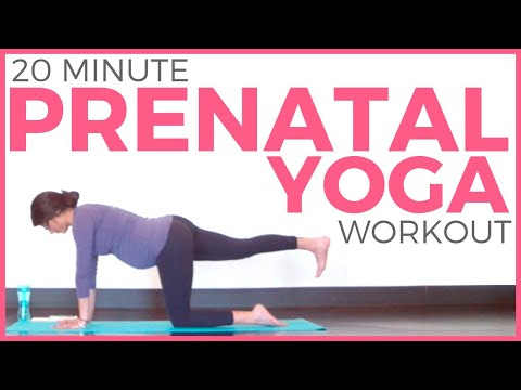 20 minute Prenatal Yoga Workout for Strength & Flexibility (All ...