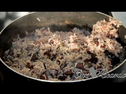 RICE & PEAS Jamaican Rice & Peas ..Caribbean Rice & Peas ...Chef Ricardo Cooking