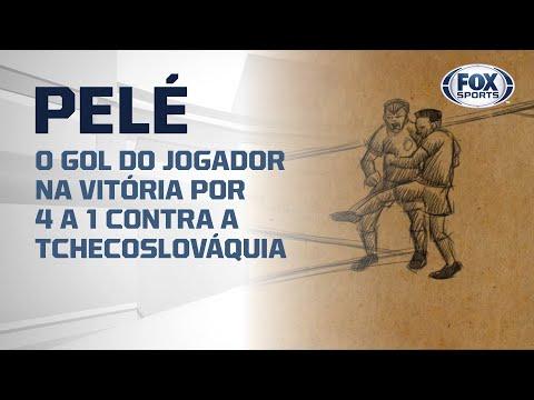 #FoxSports50AnosDoTri - O gol de Pelé na vitória por 4 a 1 contra a Tchecoslováquia