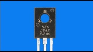 How to make dimmer light circuit with Transistor D882