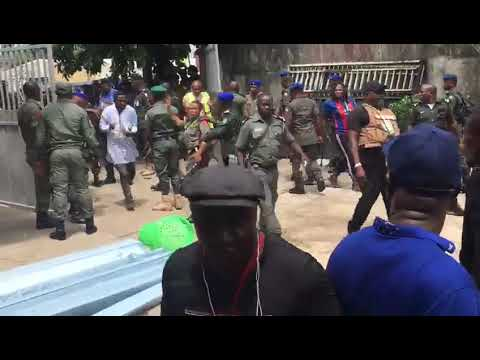 Soldiers And Police Clash At INEC Headquarters In Rivers State