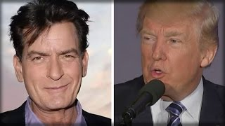 CHARLIE SHEEN FACES BACKLASH ON TWITTER FOR POST CALLING FOR DONALD TRUMP'S DEATH