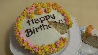Easy And Spongy Birthday Cake   کیک سالگره آسان و خوشمزه