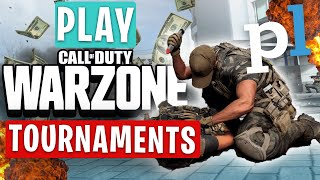 Call of Duty: How To (PLAY WARZONE TOURNAMENTS) & WIN MONEY $$