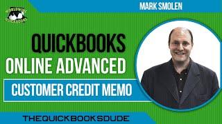 QuickBooks Online Customer Credit Memo