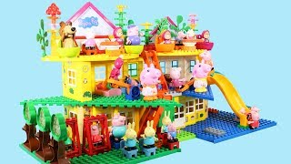 Peppa Pig Blocks Mega House Toys For Kids - Lego Duplo House Construction Sets #5