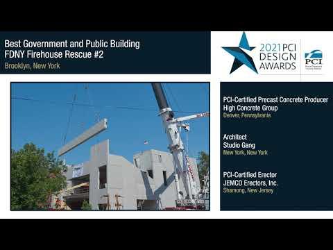 2021 PCI Design Awards Winner: FDNY Firehouse Rescue #2