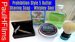 Prohibition Style - 5 Butter -  Shaving Soap