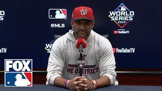Dave Martinez breaks down timeline on Max Scherzer injury and effect on World Series | FOX MLB