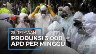 Sebanyak 25 Relawan Grobogan Produksi 3.000 APD dalam Satu pekan
