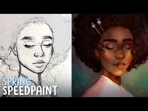 SPRING SPEEDPAINT - Krita | Seasons Series | Jenna Drawing