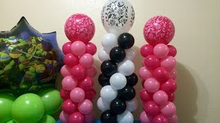 Easy Mini Balloon Columns!