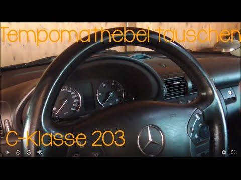Mercedes C-Klasse 203 Tempomathebel tauschen / Lenkrad ausbauen