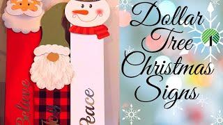 Dollar Tree Christmas Signs
