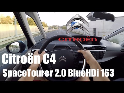 Citroen C4 SpaceTourer 2.0 BlueHDi 163 POV Test Drive + Acceleration 0-200 km/h + FULL BRAKE TEST