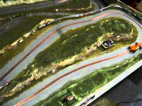 ninco orange arrows test on the slot car track