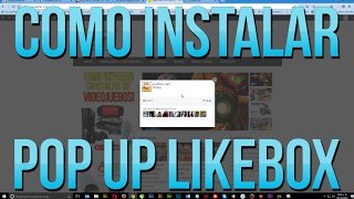 Como instalar POP UP LIKEBOX en Wordpress
