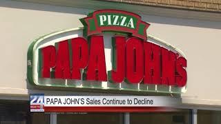 Papa John's Sales Continue to Decrease