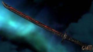 Skyrim:мод на оружие короткая даэдра катана
