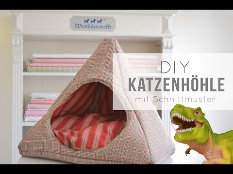 Katzenhöhle selber machen | Anleitung mit Schnittmuster für Anfänger | #bloggerfuerfellnasen