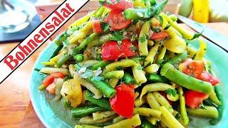 Bohnensalat mit Tomate | Schnelle und einfache Rezepte | gesunde Küche