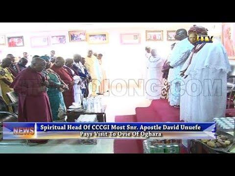 Spiritual Head of CCCGI visits Ovie of Oghara