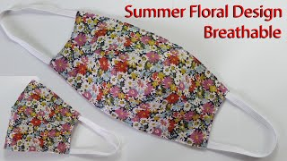 Beautiful Summer Floral Design Face Mask | Breathable Mask Sewing Tutorial | How To Make A Face Mask