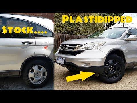 Making a Honda CRV somewhat cooler! // Plasti Dipped Wheels! + Updates