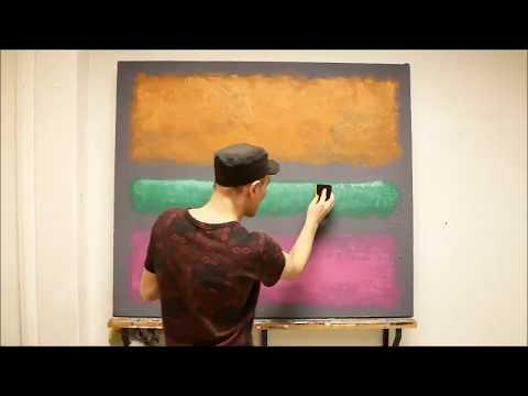 Color field painting.  Paint your Rothko. Online course. Die Farbfeldmalerei, male dein Rothko