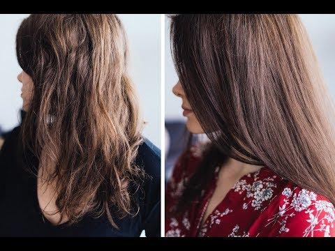 Naturalna maska do włosów do włosów suchych