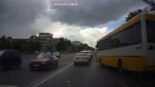 водитель автобуса из Караганды грубый нарушитель пдд